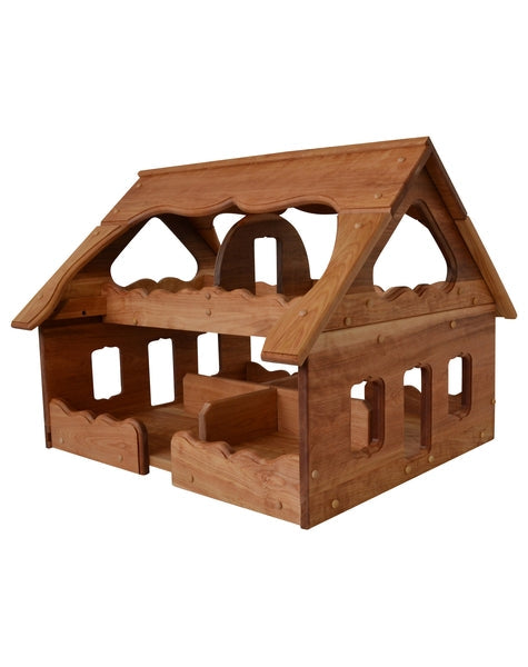 Natural Wooden Our Maine Dollhouse in Hardwood-Elves & Angels