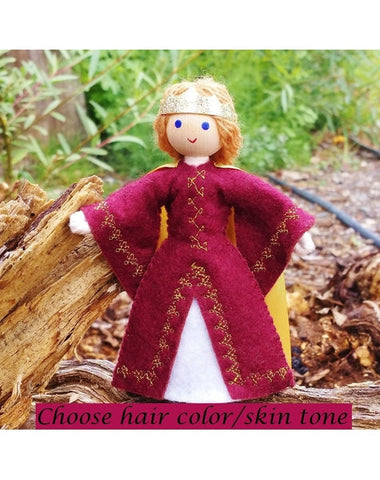 Natural Dollhouse Queen Doll-Elves & Angels