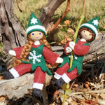 Christmas Elf Doll Girl-Elves & Angels