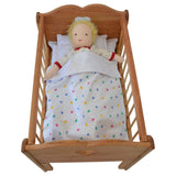 Angelina's Doll Crib in Hardwood Set-Elves & Angels