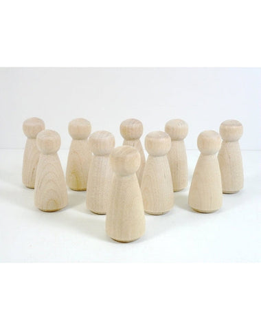 Set of 8 Small Wooden Peg Doll-Woman-Angel-Girl-Elves & Angels