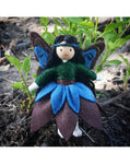 Woodland Fairy Doll (blue & brown)-Elves & Angels
