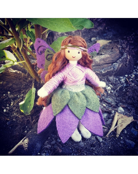 Woodland Fairy Doll (purple & Green)-Elves & Angels