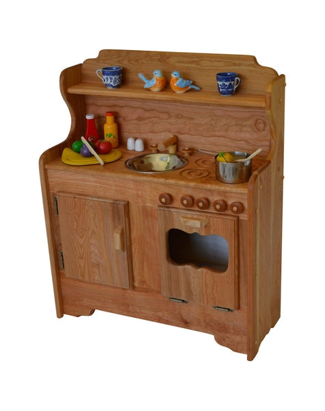 wooden play kitchen - abbie's kitchen | elves & angels heirloom