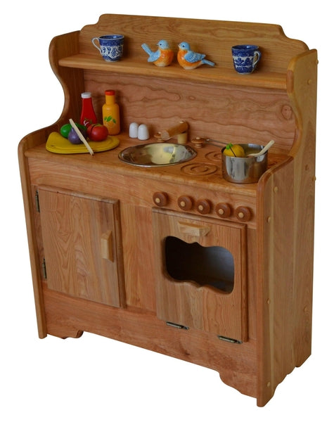 Wooden Play Kitchen wooden play kitchen - abbie's kitchen | elves & angels heirloom