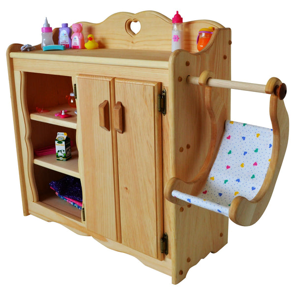 Dolly's Changing Table in Hardwood-Elves & Angels