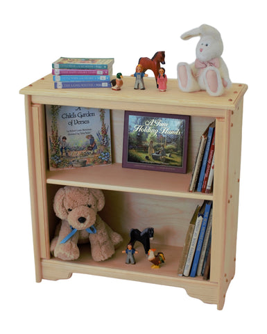 "York Harbor 29"" x 29 1/2"" Tall solid wood Bookcase-Elves & Angels"