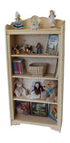"Mount Blue 29"" x 52"" Tall solid wood Bookcase-Elves & Angels"