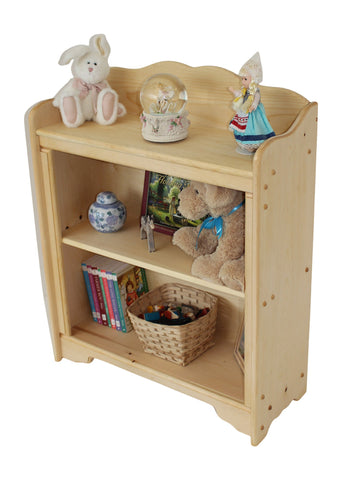 "Stonington 29"" x 29 1/2"" Tall solid wood Bookcase-Elves & Angels"
