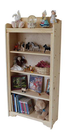 "Mount Katahdin 29"" x 52"" Tall solid wood Bookcase-Elves & Angels"