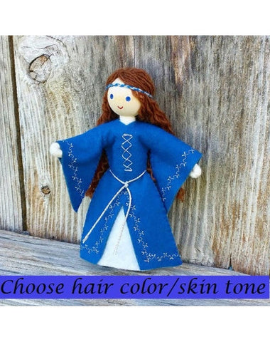 Natural Maid Marian Dollhouse Doll-Elves & Angels