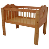 Angelina's Doll Crib in Hardwood-Elves & Angels