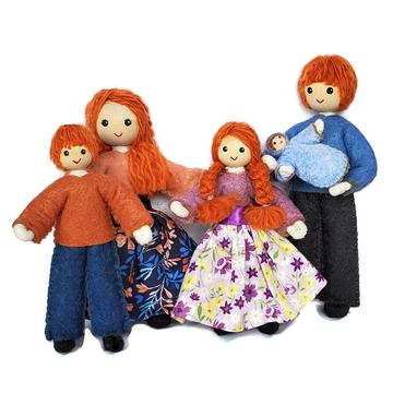 Dollhouse Family - Red Hair-Elves & Angels