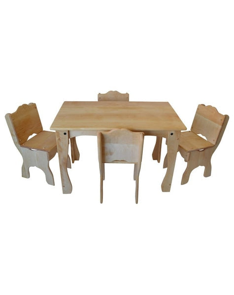 Downeast Cottage Table And Chair Deluxe Set Elves Angels