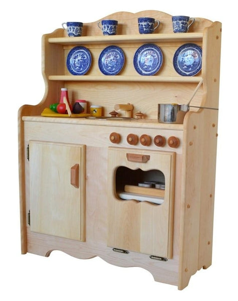 Sylvieu0027s Kitchen in Hardwood  sc 1 st  Elves and Angels & Wooden Play Kitchens and More | Elves and Angels | Elves u0026 Angels ...