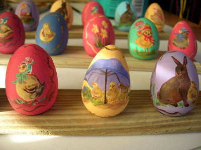 Set of 6 Eggs-Elves & Angels