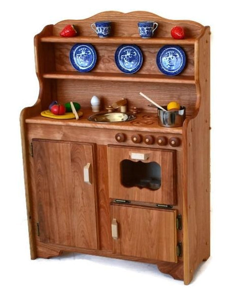 Sylvie's Kitchen Deluxe in Dark Hardwood-Elves & Angels
