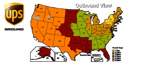 ups ground map