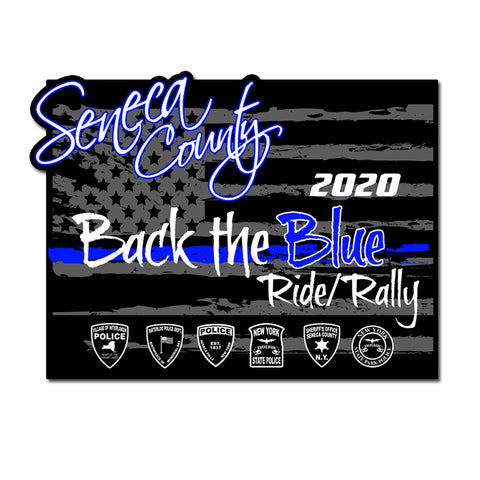 Seneca County Back The Blue Sticker