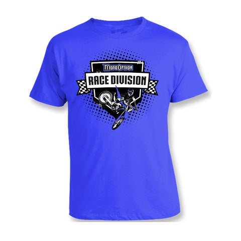 Youth Race Division Tee - Blue