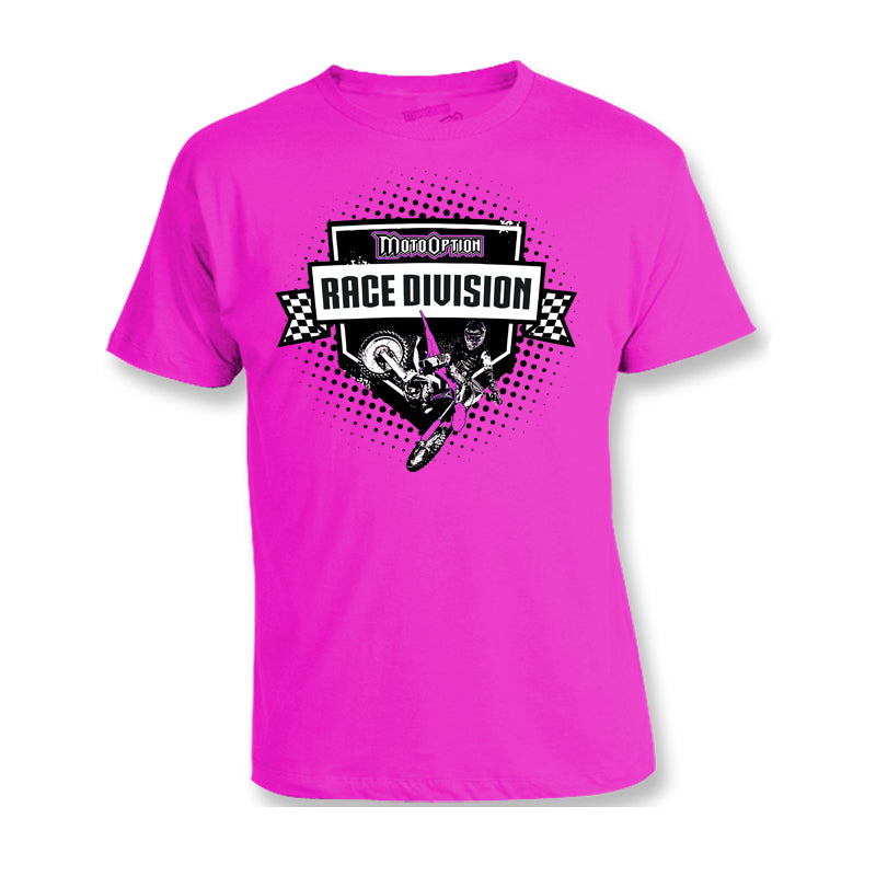Youth Race Division Tee - Pink