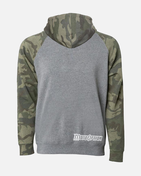 YOUTH MADE FOR MISCHIEF RAGLAN HOODIE - CAMO