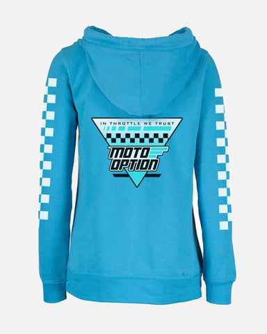 WOMENS TRIANGULAR V-NOTCH HOODIE