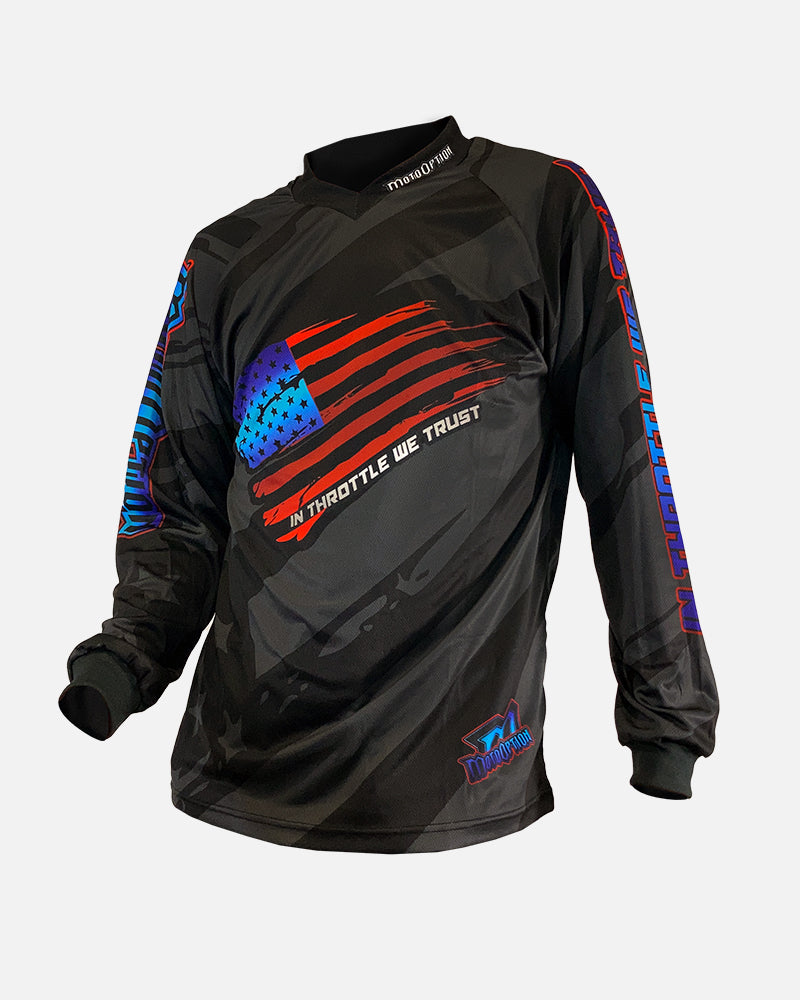 WAVE THE FLAG L/S JERSEY - BLACK