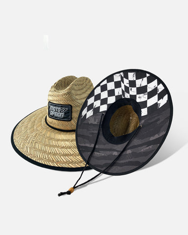 CHECKERS STRAW HAT