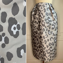Load image into Gallery viewer, New With Tags! Grey Leopard Ball Midi Skirt