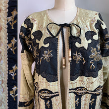 Load image into Gallery viewer, Vintage 100% Silk Embroidered Jacket.