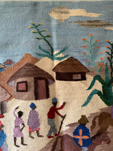 Load image into Gallery viewer, Vintage 100% Mohair African Woven Tapestry