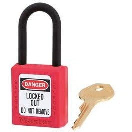406 dielectric Zenex™ thermoplastic safety padlock - Industrial Labelling supplies