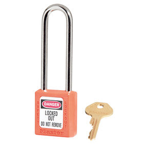 Zenex™ thermoplastic safety padlock, 38mm wide with 76mm shackle - Industrial Labelling supplies