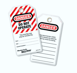 """'DANGER""' Do not operate tags (12 tags/pack) - Industrial Labelling supplies"