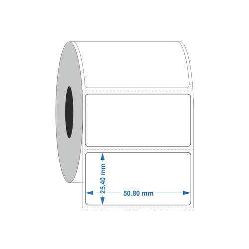 Permanent Autoclave Thermal transfer label 50.8 x 25.4mm - Industrial Labelling supplies