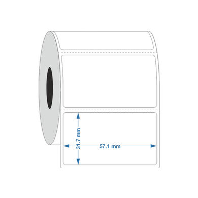 Permanent Autoclave Thermal transfer label 57.1x31.7mm - Industrial Labelling supplies