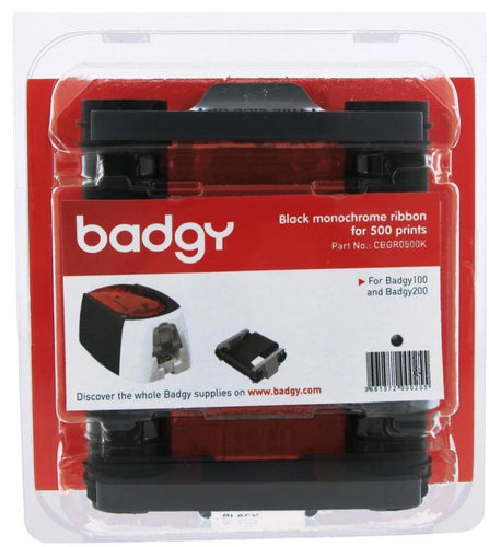 Monochrome black ribbon for 500 Prints for Badgy - Industrial Labelling supplies