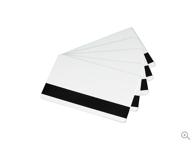 Classic Blank White Cards with HICO Magnetic Stripe – 30 MIL. - Industrial Labelling supplies