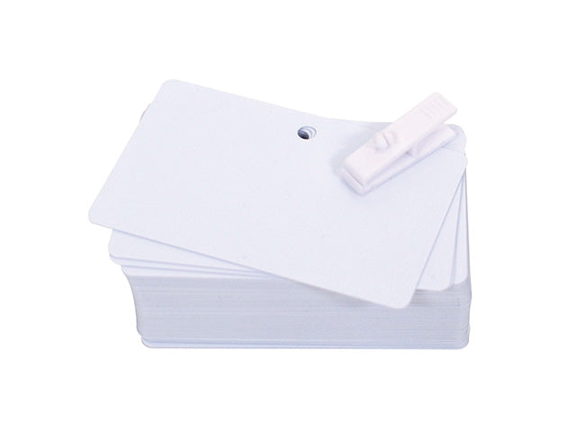 Pre-punched PVC cards 20mil - Industrial Labelling supplies