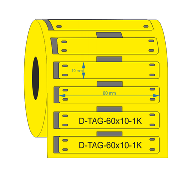 D-TAG-60x10-1K-YL - Industrial Labelling supplies