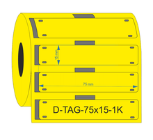 PUR Yellow Cable Tag 75mm x 15mm - Industrial Labelling supplies