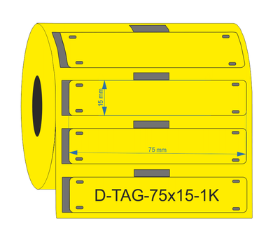 D-TAG-75x15-1K-YL - Industrial Labelling supplies