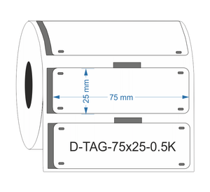 D-TAG-75x25-0.5K-WH - Industrial Labelling supplies