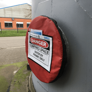 Confined space lockout tool (SMALL) Non Lockable for manholes from 20 to 24 inch - Industrial Labelling supplies