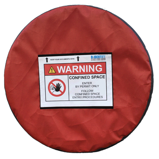 Confined space lockout tool (EXTRA LARGE) Non Lockable for manholes from 33 to 36 inch - Industrial Labelling supplies