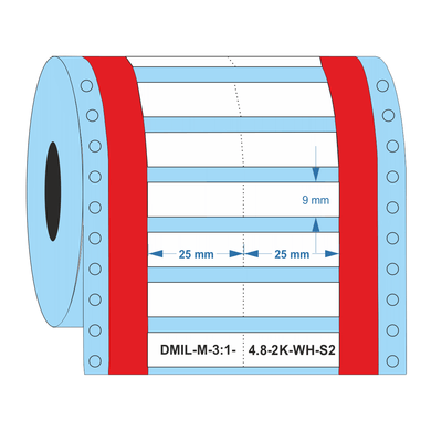 Heat shrink sleeves for cable section 1 to 4 mm² - Industrial Labelling supplies