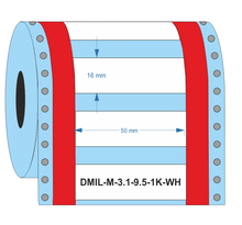 DMIL-M-3:1-9.5-1K-WH - Industrial Labelling supplies