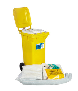 Wheel-bin 120L spill kit - Industrial Labelling supplies
