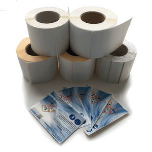 Inkjet Label 76x76 mm (PAPER, VINYL, PP) - Industrial Labelling supplies